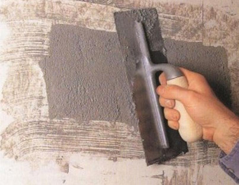 чем замазывать дыры в стенах при ремонте