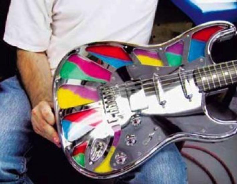 Декорирование гитары. Как украсить гитару? Полезные советы